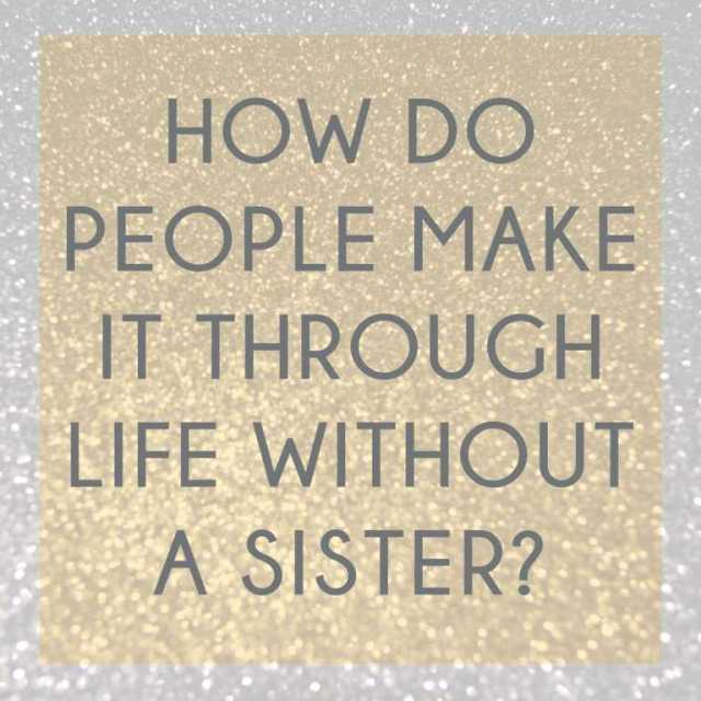 Sister In Law Quotes How do people make it through life without a sister