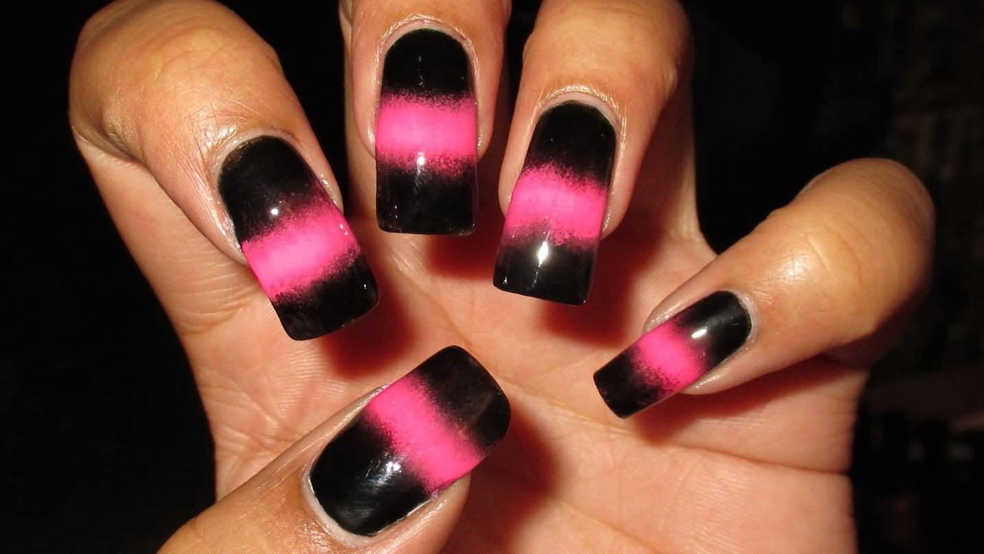 55 Trendy Black And Pink Nail Art Design, Style \u0026 Ideas