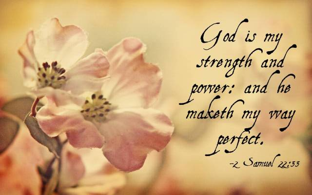 Strength Quotes God Is My Strength And Power And He Make the My Way Perfect