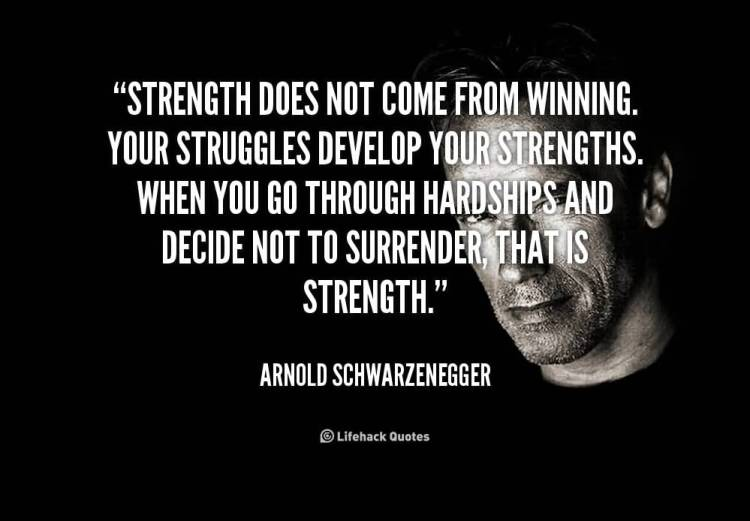 Strength Quotes Strength Does Not Come From Winning Your Struggles Develop Your Strengths When You Go Through Hardship And Decide Not To Surrender.