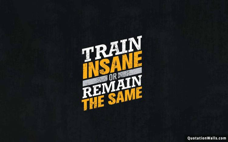 Strength Quotes Train Insane Or Remain The Same