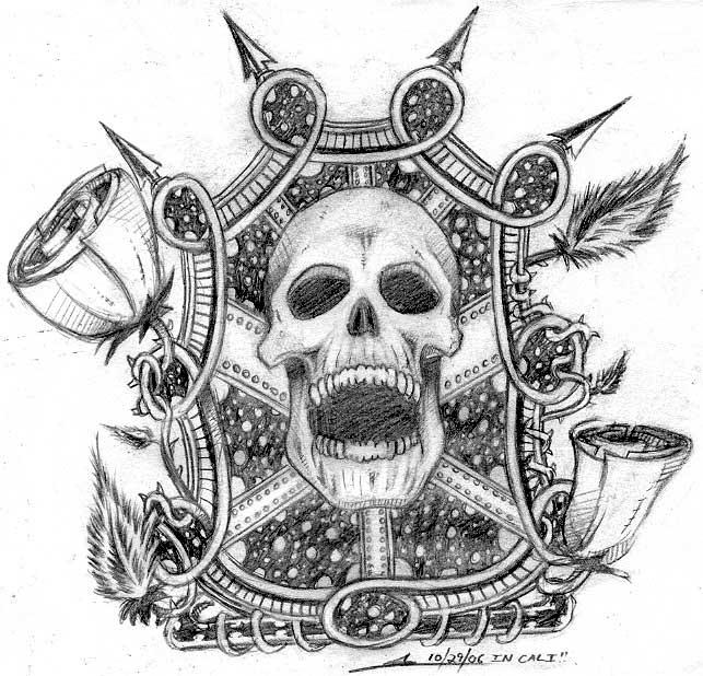 Stunning Dia De Los Muertos Skull Tattoo Design For Boys