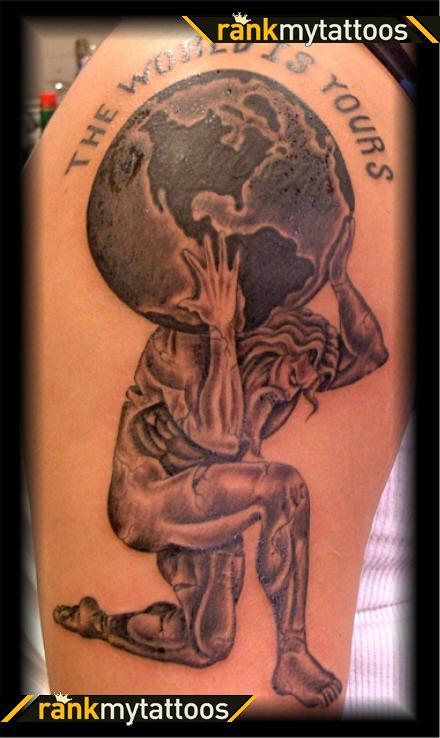 Superb Mythical Greek Character Tattoo Design For Boys