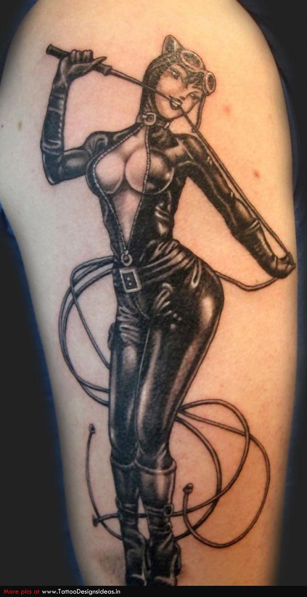 Sweet Best Pin Up Girl Tattoo Design For Girls