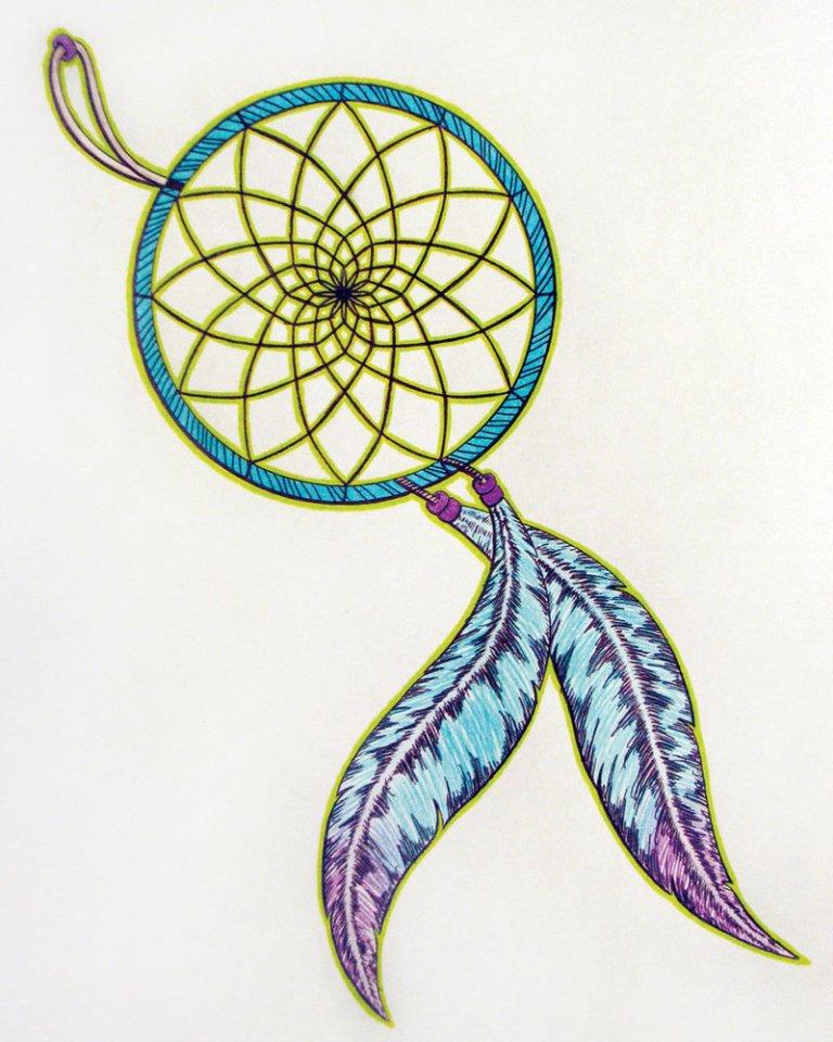 Sweet Dream Catcher Tattoo Design For Girls