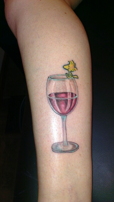 Sweet Glass Tattoo For Girls Only