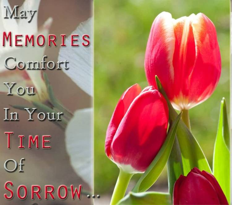 Sympathy Quotes may memories comfort you in your time of sorrow...