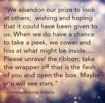 Teen Quotes we abandon our prize to look at other...