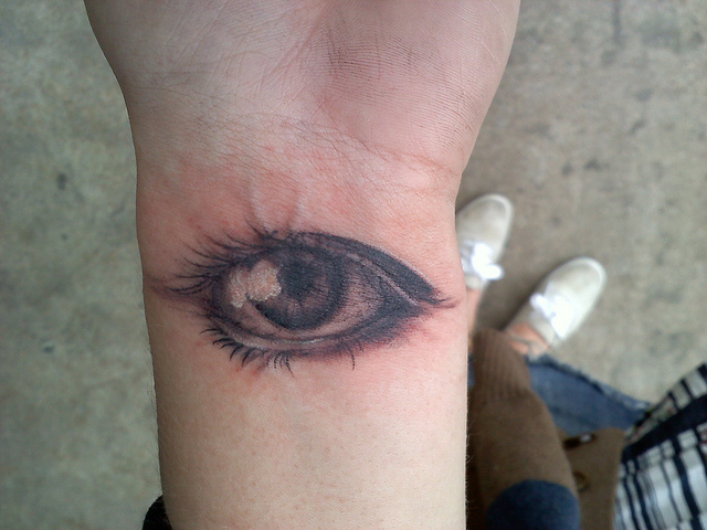 Terrific Eye Tattoo For Wrist For Girls