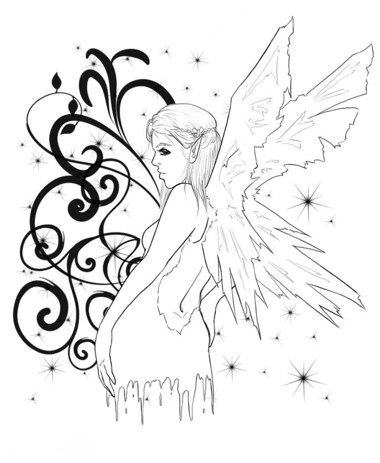 Terrific Fairy Tattoo Sample For Girls