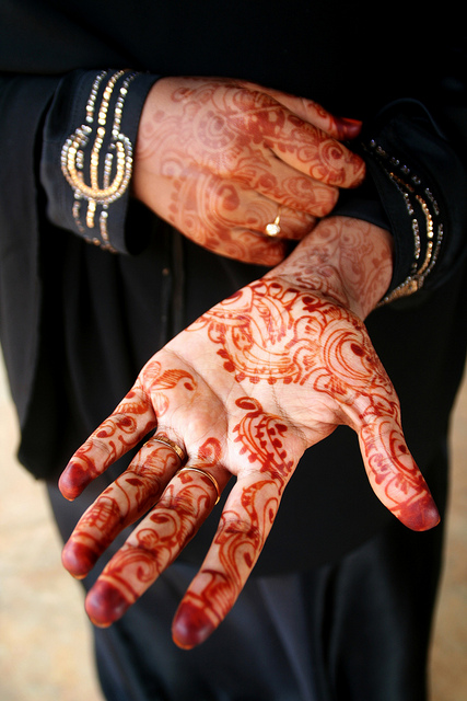 Terrific Henna Tattoo Design On Hand For Girls