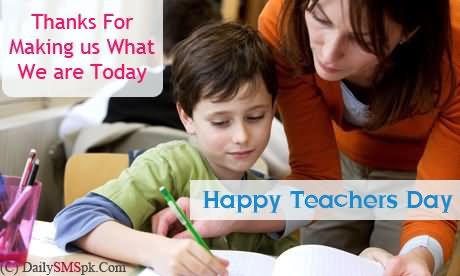 Thanks Happy World Teacher's Day