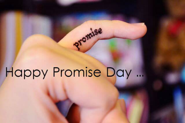 To My Love Happy Promise Day Image