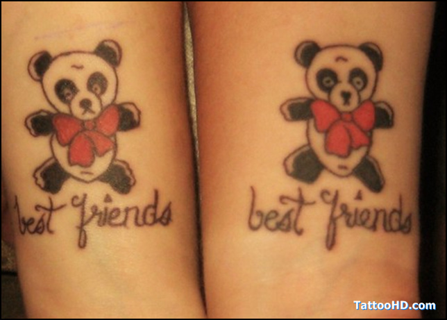 Traditional HD Best Friends Tattoo Design For Girls