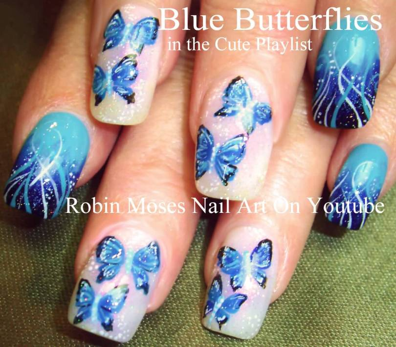 Tremendous Butterfly Nail With Butterfly Design