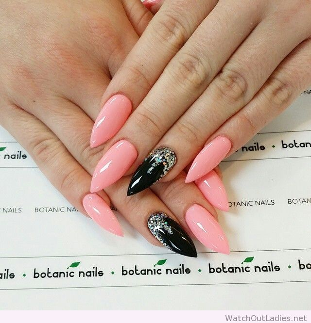 Tremendous Stiletto Nails With Pink And Nail Design