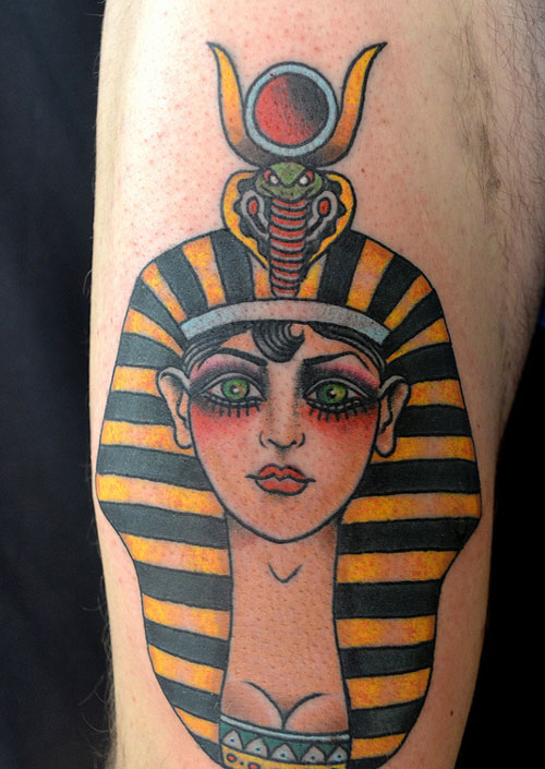 Trendy Ancient Egyptian Art Tattoo Design For Boys