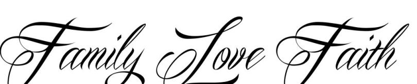 Trendy Family Love Faith Tattoo Design For Boys