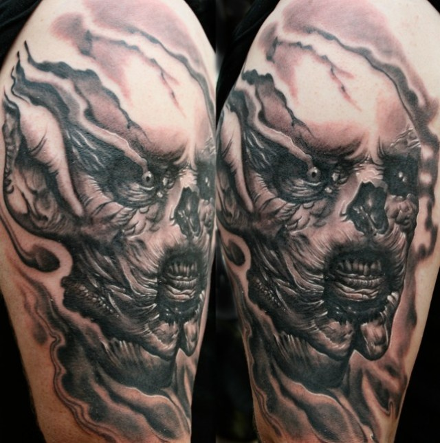 Ultimate Alienist Horror Tattoo For Boys
