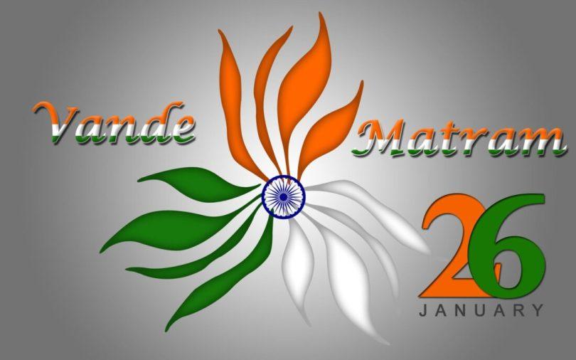 Vande Matram 26 January Happy Republic Day Greetings Wallpaper