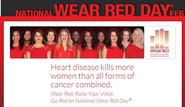Wear Red Raise Your Voice National Wear Red Day