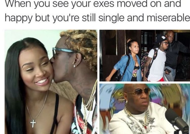When You See Your Exes Moved On And Happy Funny Birdman Memes Graphics