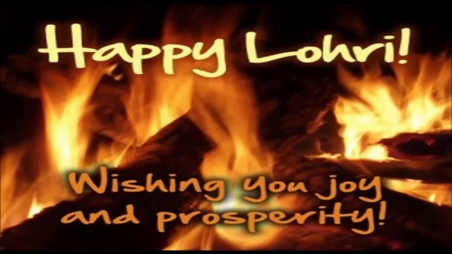 Wishing You A Fantastic Lohri Wishes Message Image