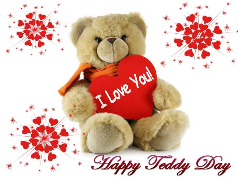Wishing You Happy Teddy Day Wishes Card Image