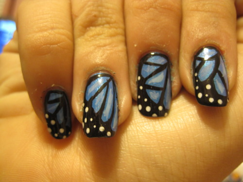 Wonderful Butterfly Nail With Fabulous design