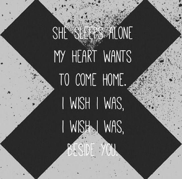 5Sos Quotes she sleeps alone my heart wants to come home i wish