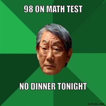 98 on math test no dinner tonight Dank meme