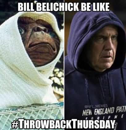 American Football Memes bill belichick be like