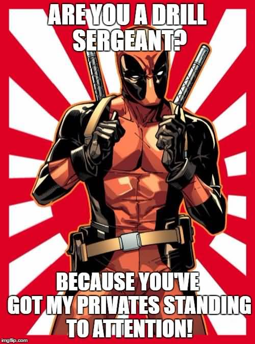 Are You A Drill Sergeant Funny Deadpool Meme