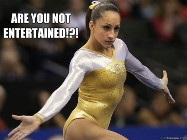 Are you not entertained Olympics Meme