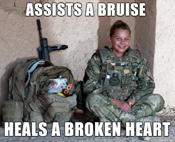 Army Memes assists a bruise heals a broken heart