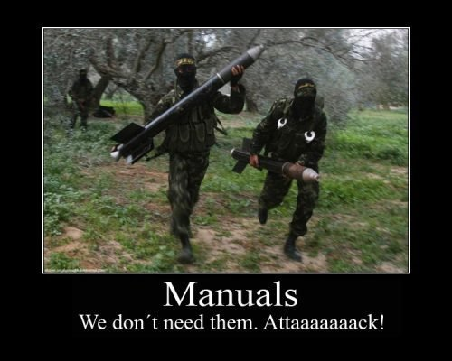 Army Memes manuals we don't need them attaaaaaack