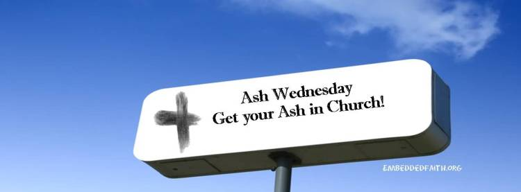Ash Wednesday Ahead