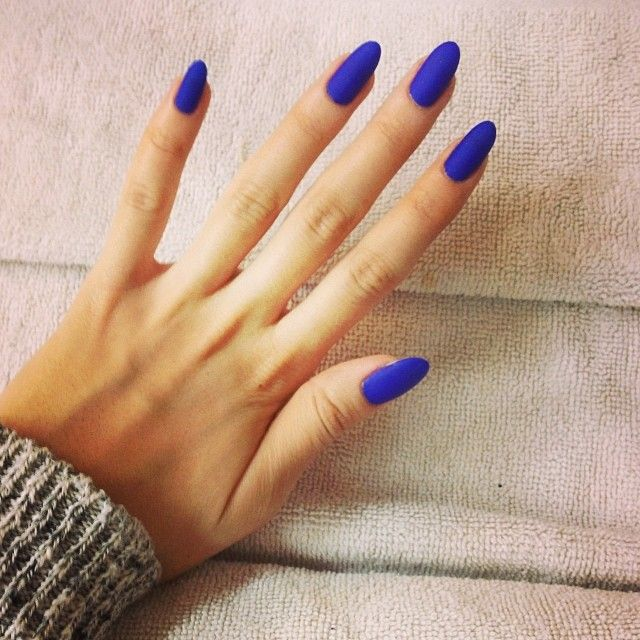 Awesome Blue Nails With Full Paint