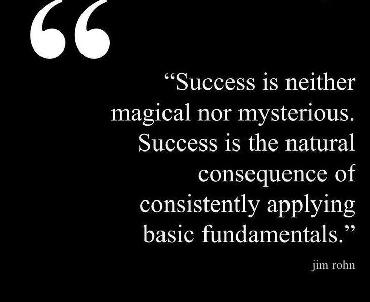Business Quotes success is neither magical nor mysterious success is the natural consequence of consistently applying basic fundamentals