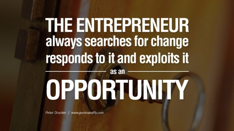 Business Quotes the entrepreneur always searches for change responds to it and exploits it