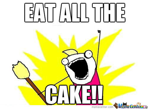 Cake Memes eat all the cake