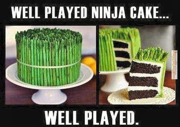 Cake Memes well played ninja cake well played