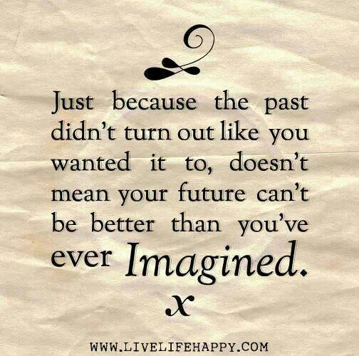 Charming Quotes just because the past didn't turn out like you wanted it to does't
