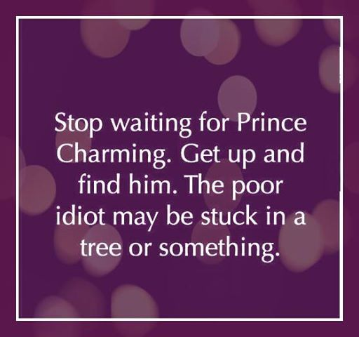 Charming Quotes stop waiting for prince charming get