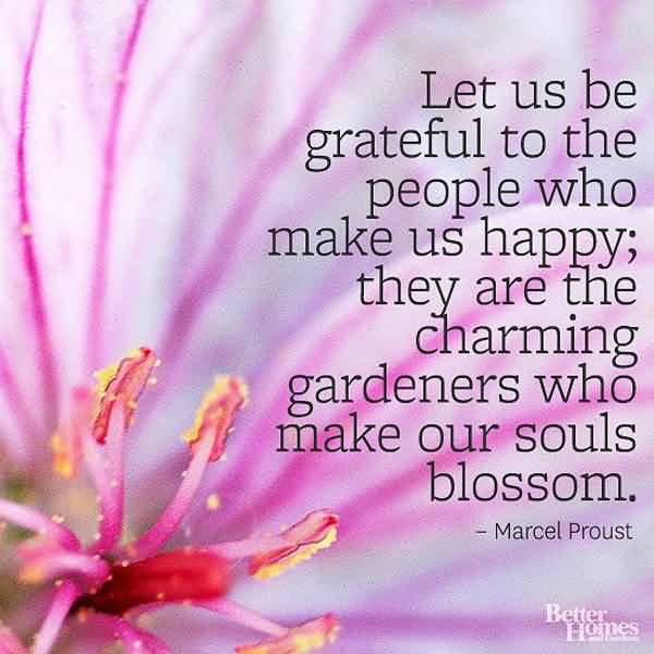 Charming sayings let us the grateful to the people