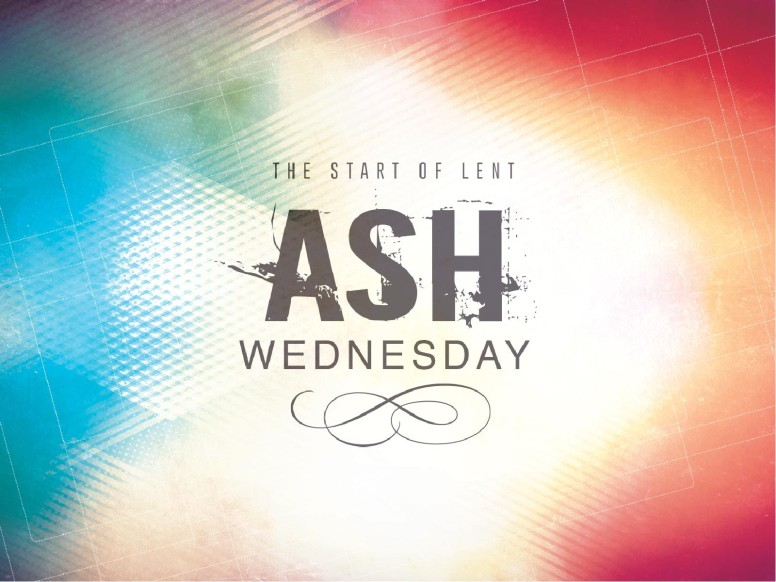 Colorful Ash Wednesday Greetings Wallpaper