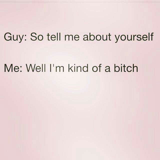Dating Quotes guy so tell me about yourself me well im kind of a bitch