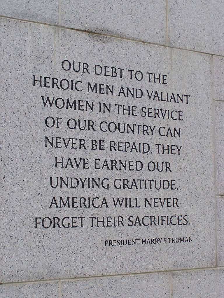 Day sayings our debt to the heroic men and valiant