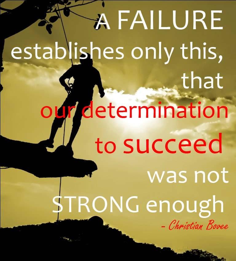 Determination Quotes a failure establish