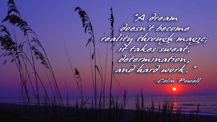 Determination sayings a dream doesn't become reality
